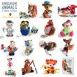 Amigurumi Animals at Work horgolás könyv