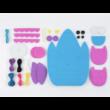 DIY Timits bagoly pénztárca és kulcstartó varrókészlet gyerekeknek