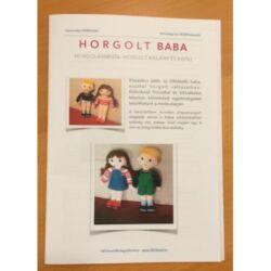 Horgolt baba leírás: kisfiú és kislány