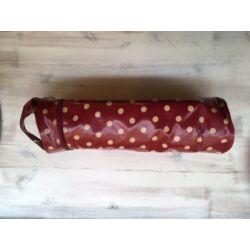 Pöttyös fonal- és kötőtű tartó táska