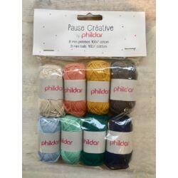 Phildar pamut fonal - 8 darabos csomag - trendi