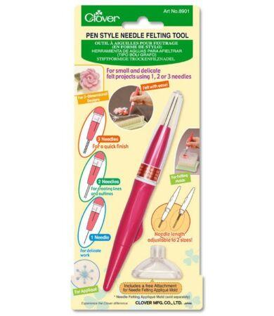 Clover Pen Style Needle Felting Tool (8901) - Nemezelőtű 1-3 tűvel