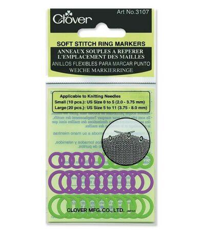 Clover Soft Stitch Ring Markers (3107) - szemjelölők