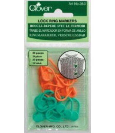 Clover Locking Stitch Markers (353) - zárható szemjelölők