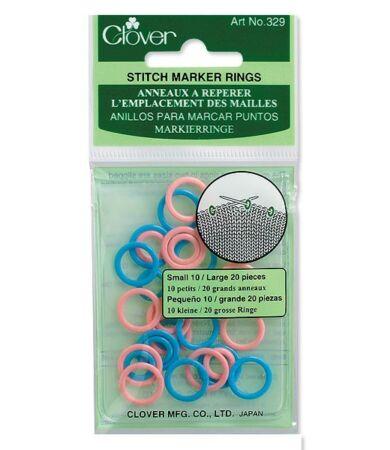 Clover Stitch Ring Markers (329) - kötésjelölők