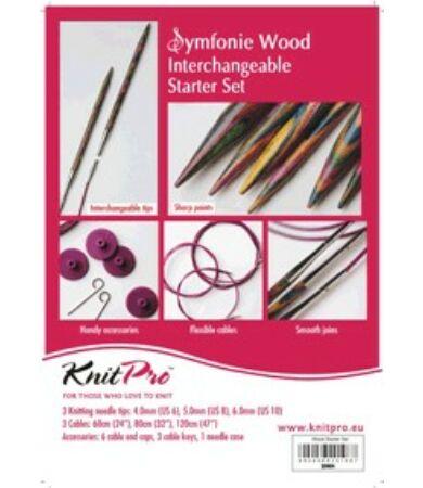Knit Pro Chunky Set cserélhető tűvéges kötőtűszett nagy méretű tűvégekkel