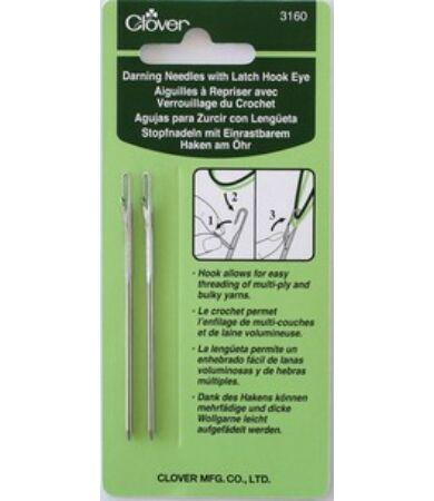 Clover 3160 Darning Needles with Latch Hook - összevarrótű nyitható tűfokkal
