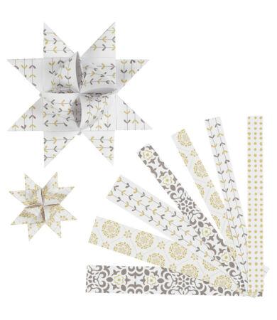 CC Hobby karácsonyi papír csillag szett - fehér-arany