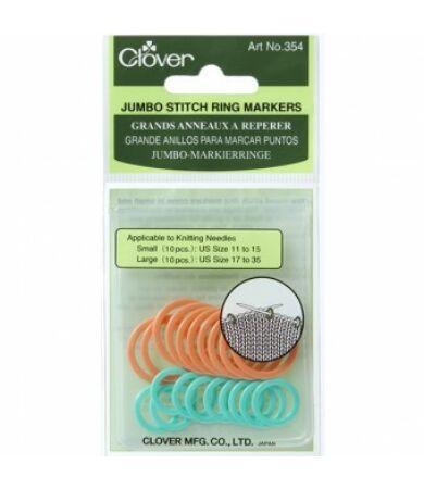 Clover Jumbo Stitch Markers (354) kötésjelölő gyűrű