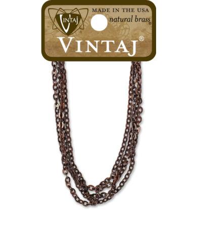 Vintaj Delicate Flat Oval Chain Necklace - nyaklánc alap