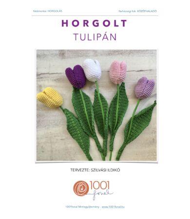 Horgolt tulipán minta