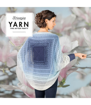Yarn - The After Party No. 27. - Indigo Shrug kardigán horgolásminta