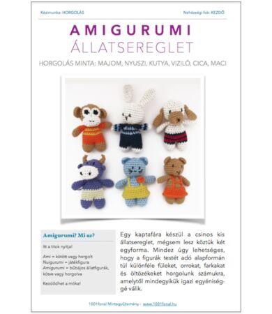 Amigurumi állatsereglet - horgolásminta