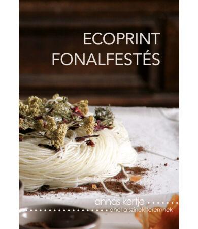 Ecoprint fonalfestés könyv