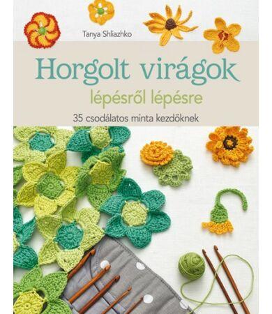 horgolt virágok könyv