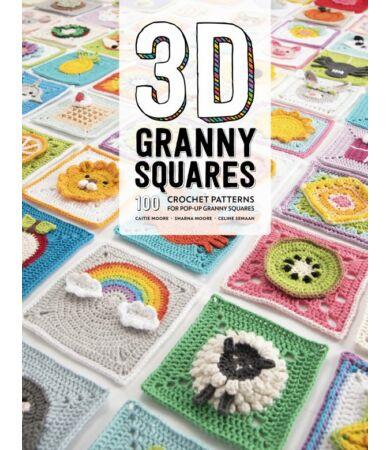 3D Granny Squares nagyi négyzetek horgolás könyv