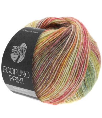 Lana Grossa Ecopuno Print pamut, gyapjú, alpaka fonal