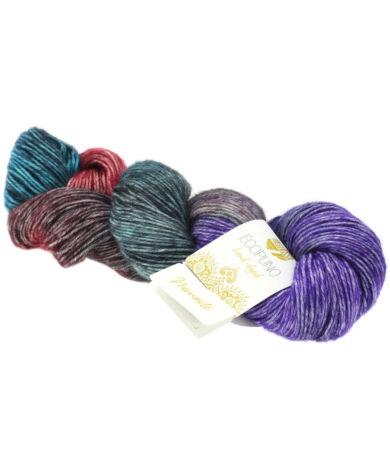 Lana Grossa Ecopuno Hand-dyed pamut, gyapjú, alpaka fonal