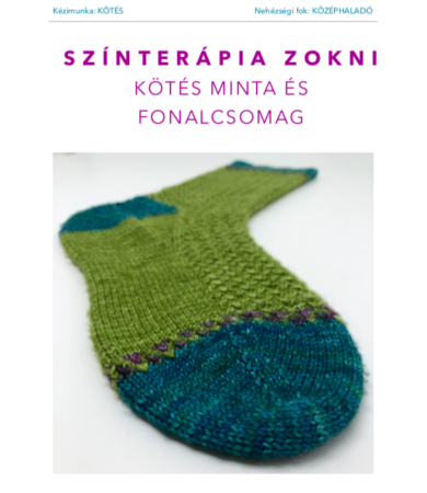 Színterápia kötött zokni fonalcsomag mintával