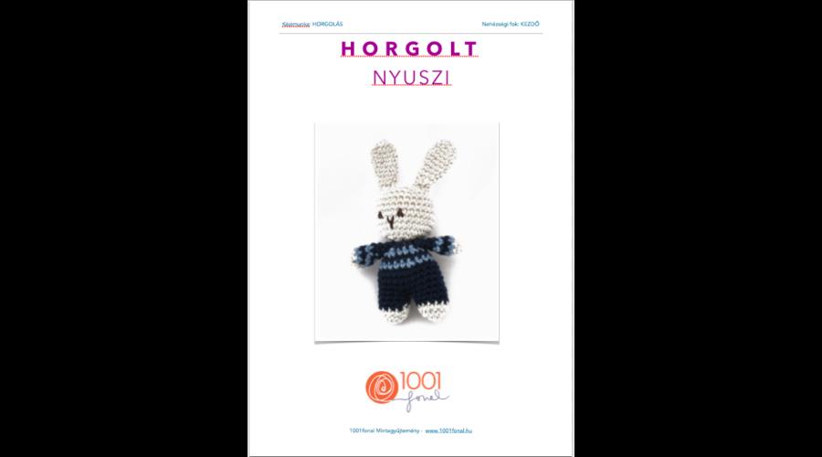 Horgolt Amigurumi Nyuszi : Horgolt húsvéti nyuszi minta horgolás amigurumi fonal