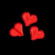 Addi Maschenfix (4162) - szív alakú szem tartó