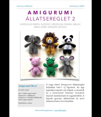 Amigurumi állatsereglet 2 horgolás minta