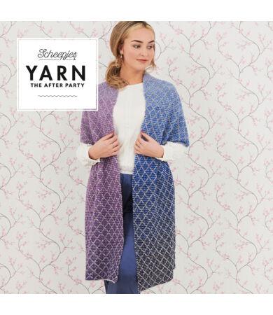 Yarn - The After Party No. 71 - Lavender Trellis Wrap kötött stóla minta