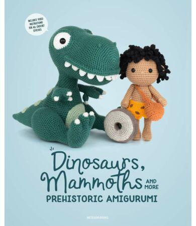 őkori amigurumi könyv, horgolt dinó, t-rex és egyéb szauruszok