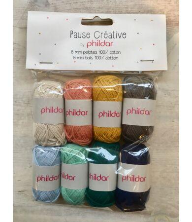 Phildar pamut fonal - 8 darabos csomag