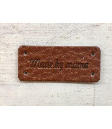 Made by Mama feliratú bőr felvarró címke